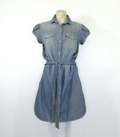 Womens LEVIS Belted Cap Sleeve Soft Denim Dress 'Go Forth' 2012 Size M BNWT
