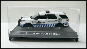 Australian NSW Police Sedan,Car, Vehicle Custom Graphics 1/43 White Diecast