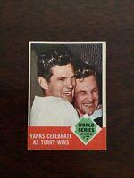 1963 TOPPS BASEBALL card ~~~ #148 WORLD SERIES GAME 7 ~~~ YANKEES CELEBRATE