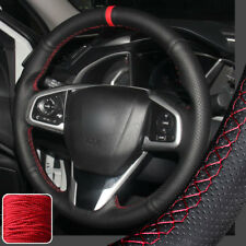 Hand-Stitch Steering Wheel Cover Wrap for 10th Gen Honda Civic 2016 2017 18 CR-V