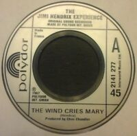 "JIMI HENDRIX EXPERIENCE - THE WIND CRIES MARY 7"" VINYL SINGLE 1960s ROCK ICON EX"