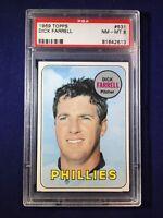 1969 Topps Dick Farrell #531 PSA 8 Philadelphia Phillies