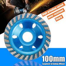 "100mm 4"" Diamond Segment Grinding Cup Wheel Disc Grinder Concrete Granite Stone"