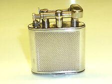 VINTAGE LIFTARM POCKET LIGHTER WITH 835 SILVER CASE -FEUERZEUG - 1930 -NICE LOOK