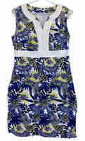 Regatta Womens White Floral Sleeveless Lined Dress Size 12
