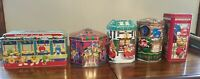 Lot of M & M Collectible Tins Christmas Village Series 96 97 99 00 01 Lot of 5