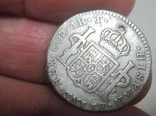 1824 CUZCO -T (PERU) 1 REAL (BUST) FERDIND VII (SILVER) -- RARE---RARE--RARE--