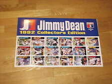 1992 Jimmy Dean Baseball Advertising Baseball Card Display Piece Sandberg Gwynn
