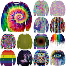 Funny Tie-Dye Colorful Paint Print 3D Hoodies Women Men Casual Sweatshirt Tops
