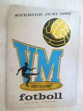 1958 WORLD CUP TOURNAMENT SOUVENIR PROGRAMME  (with AUTOGRAPHS) RARE*
