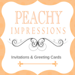 Peachy Impressions Greeting Cards