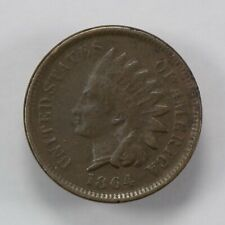 1864 1c INDIAN HEAD SMALL CENT, NICE FINE+ COIN LOT#Q789