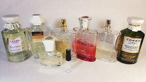 CREED perfumes. Choose of 8 scents you want to try. 1ml, 5ml or 10ml