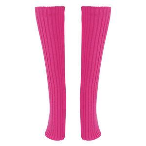 Women Ladies Knee Thigh High Socks Leg Warmer Ribbed Calf Sleeve For Sports Yoga