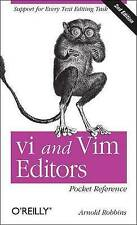 NEW vi and Vim Editors Pocket Reference: Support for every text editing task