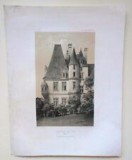 Lithographie originale de Victor Petit - Château de Lion - Calvados