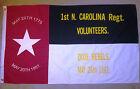 COTTON, Southern American Flag, Civil War Flag, 1st North Carolina, Dixie Rebels