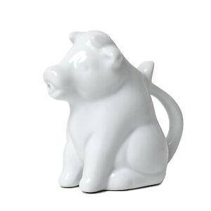 150ml Porcelain White Cow Milk Jug With Handle Coffee Tea Creamer Non-Drip Spout