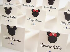 Personalised Handmade Mickey and Minnie Wedding Place Cards x 10