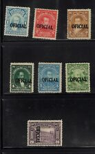 Ecuador 1928  Official set complete  MLH, MNG  Sc O184-O190