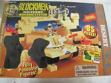 BLOCKMEN DSI TOYS MILITARY BUILDING SYSTEM BLOCKS TANK TUNNEL WORKS WITH LEGO