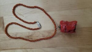 "Collectible HAND CRAFTED GENUINE CORAL NECKLACE 20"" LONG"