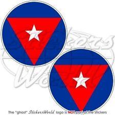 "CUBA Cuban AirForce Aircraft Roundels Vinyl Decals, Stickers 3"" (75mm) x2"