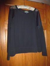 Lauren Active / Ralph Lauren, L-RL Label, Black Jersey w/ Sheer Mesh, Size XL