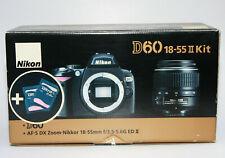 Nikon D60 Kit mit Nikon DX AF-SNikkor 18-55mm 1:3,5-5,6 G II ED und OVP