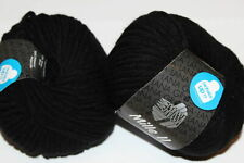 Wolle Kreativ! Lana Grossa - Mille II - Fb. 15 schwarz 50 g