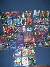 1994 Flair & 1995 Fleer Ultra Marvel Trading Card Lot 60 NM cards with holders