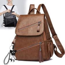 Elegant Rucksack Damen PU Leder Schultertaschen Umhängetasche für Schule Alltag
