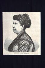 Isabella Galletti-Gianoli, mezzosoprano italiano Incisione del 1869
