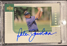 2001 UD PLAYERS INK PETER JACOBSEN ON CARD AUTO SIGNED AUTOGRAPH ⛳️