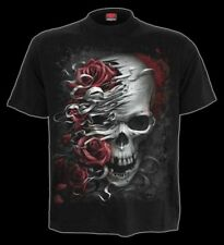 Tête de mort tee-shirt avec roses - & - Spiral Crâne Gothique