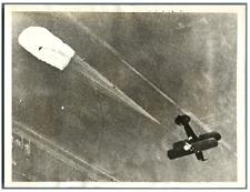 U.S.A., Santa Ana, Capt. Roscoe Turner release his parachute  Vintage silver pri