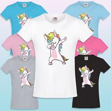 Dabbing Unicorn Rainbow Girls T-Shirt Cute Kids Gift T-shirt Love Dab Badass