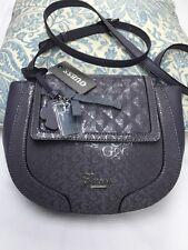 "Guess handbag Shoulder Bag 9""X11.5"" Slate Gray Good Gift 100% Authentic NEW$139"