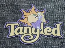 Disney Tangled title printed scrapbook page die cut
