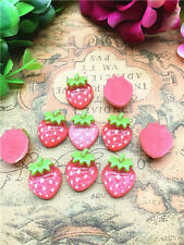 10pcs 16*20mm Strawberry red  Resin Flatback ScrapbookIng phone/craft9