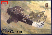 Roden 421 - Fokker D. VII Alb ( Early ) - 1/48 scale model airplane kit 146 mm