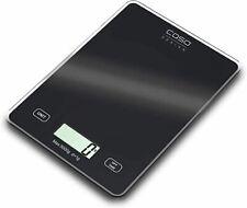 Caso Slim Schwarz digitale Küchenwage,bis 5kg Tragkraft,Zuwiegefunktion