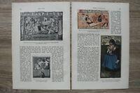 München Künstler Karneval 1900/01 Fritz v Ostini Text Grafik Jugendstil Kunst ++
