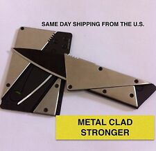 IAIN SINCLAIR STYLE CREDIT CARD CARDSHARP 2 FOLDING WALLET KNIFE  METAL