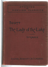 SIR WALTER SCOTT Lady of the Lake:Silver,Burndett & Co,1st Editio 1895~VERY GOOD