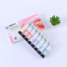 Acrylic Paint Sets Of 8 - Pastels Glitter Metallic Neon and Standard Colors -
