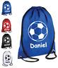 Personalised Drawstring FOOTBALL Bag School Gym Kit PE Running Sports Girls Boys