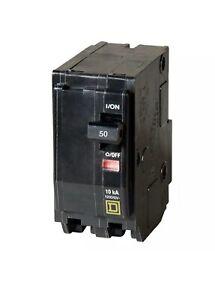 SQUARE D QO Standard Trip Plug On Circuit Breaker 50 Amp 2 Pole 10 kA 120V 240V