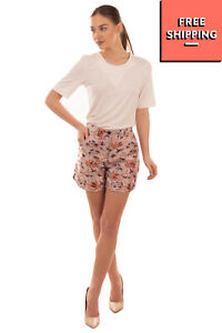 RRP €120 AIMO RICHLY Jacquard Shorts Size M Silk Blend Floral Made in Italy