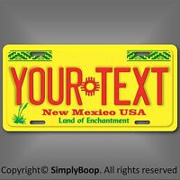 New Mexico State Aluminum License Plate Tag Personalized Custom Your Any Text